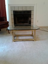 Brass and glass coffee table in Fairfax, Virginia