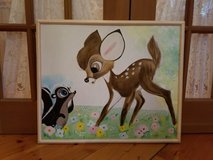 Bambi and Flower Painting - Vintage in Orland Park, Illinois