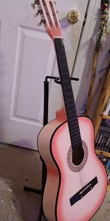 Guitar and Stand in Fort Campbell, Kentucky