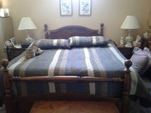 Cannonball head and foot board for Queen size bed in Fairfield, California