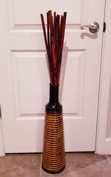 Metal Vase with Bamboo Poles in Travis AFB, California