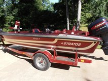 STRATUS FIBERGLASS 219F WALLEYE BOAT 150 EVINRUDE * 80lb Thrust TROLLING MOTOR & TRAILER in Fort Campbell, Kentucky