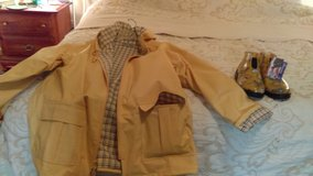 Fabric Lined Vinyl Rain Jacket & Sloggers (New) in The Woodlands, Texas