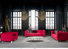 United Furniture - Rugato Living Room Set - BothSofas with Bed - price includes delivery in Wiesbaden, GE