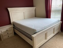 Ashely Marsilona King Panel Bed, mattress, one night stand in Camp Pendleton, California