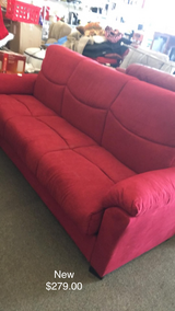 Red Click Back Couch (New) in Fort Leonard Wood, Missouri