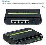 NEW 5 Port Gigabyte Switch TRENDnet GREENnet model network Internet Ethernet networking WILL SHIP in Westmont, Illinois