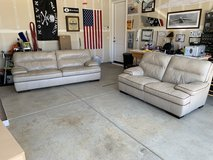 Very nice soft leather couches (2 years old) in Fairfield, California