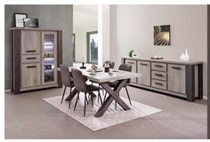United Furniture - Miko Dining Set in Dark Forest + Black including delivery in Wiesbaden, GE