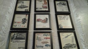 Vintage  '51 Magazine  Advertisement  Ads Auto/Cars Related (9) Framed Pictures in Aurora, Illinois