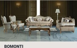 United Furniture - Bomonti - 2 x Sofa + 2 x Chair + Coffee Table + Del. Velours Beige and Cream. in Wiesbaden, GE
