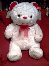 NWT Very Very Large Big Red And White Teddy Bear. in Alamogordo, New Mexico