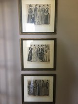 Three Framed French Fashion Prints in Chicago, Illinois