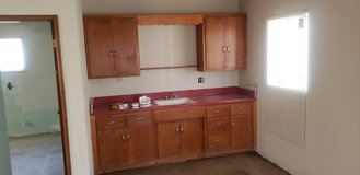 vintage kitchen cabinets sink and countertops in 29 Palms, California
