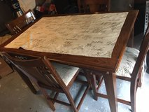 Solid wood Tall Table with 4 Chairs in Houston, Texas