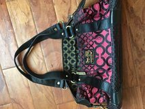 Pink and Black Coach Purse in Bartlett, Illinois