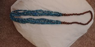 Turquoise and brown beaded necklace in Houston, Texas