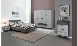 """United Furniture - US Full Size bed set Lara complete with """"Optimum Mattress"""" with delivery. in Wiesbaden, GE"""