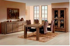 United Furniture - Alberta - Price $2080 includes China Cabinet + Table 180cm + 4 Chairs in Wiesbaden, GE