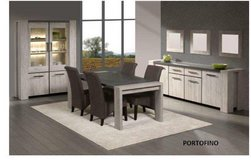 United Furniture - Silver City Dining Set in Portofino - China +Table +4 x Chairs + Delivery in Wiesbaden, GE