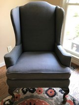 High Back Dark Blue Upholstered Chair in Wilmington, North Carolina