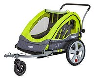 Instep Quick-N-EZ Double Seat Tow Behind Bike Trailers, Converts to Stroller/Jogger in Travis AFB, California