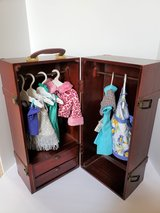 WOODEN DOLL CLOTHES ARMOIR CABINET in Bolingbrook, Illinois