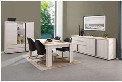 United Furniture - Marcel Dining Set in White Oak-China-Table-4 Chairs with delivery in Wiesbaden, GE