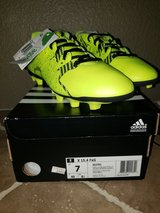 Brand New Neon Green Addidas Cleats - Youth/Juniors Size 7 in Fairfield, California