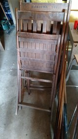 Old wooden chairs in DeKalb, Illinois