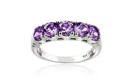 CLEARANCE ****BRAND NEW***1.25 CTTW Amethyst Half-Eternity Ring in Sterling Silver****SZ 8 in Houston, Texas