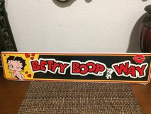Betty Boop Way Metal Sign in Cleveland, Texas