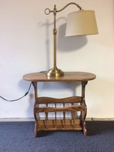 SOLID OAK TABLE AND LAMP in Orland Park, Illinois