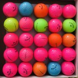 25 colorful Callaway supersoft golf balls near mint condition in Naperville, Illinois