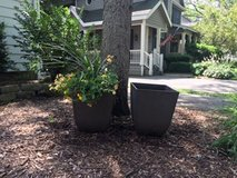 Sturdy Plastic Brown Planters in Plainfield, Illinois