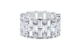 CLEARANCE***BRAND NEW* Baguette Swarovski Elements Eternity Ring: 9*** in Cleveland, Texas