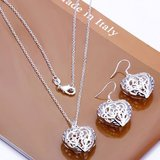 CLEARANCE***BRAND NEW***Silver Heart Earrings And Pendant Set*** in Cleveland, Texas
