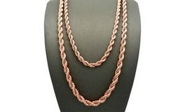 "CLEARANCE ***BRAND NEW***14K Rose Gold Plated Rope Chain Necklace***18"" in Cleveland, Texas"