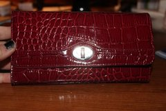 CLEARANCE ***LIKE NEW Crocodile Style Red Checkbook Wallet*** in Cleveland, Texas