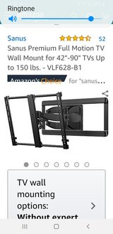 Sanus TV Wall Mount in El Paso, Texas
