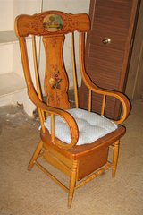 Antique Oak Wood Adult Commode / Potty Chair in Plainfield, Illinois