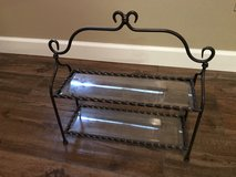 Southern Living At Home Galveston Two-Tiered Iron & Glass Insert Serving Stand in Houston, Texas