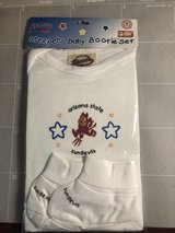 New Arizona State Sundevils Baby Creeper and Bootie Set - New in Package in Plainfield, Illinois