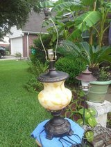 Tiffany style, Hand Blown Glass lamp in The Woodlands, Texas