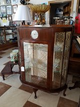 Art Deco Curio Cabinet with built in Smith clock in Fort Leonard Wood, Missouri