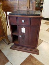 Antique English Marble top Oak Night Stand in Fort Leonard Wood, Missouri