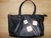 Leather Handbag By TU Black Zip Fastening Pockets in Lakenheath, UK