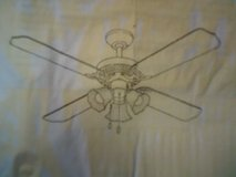 Ceiling fan, brushed nickel, new in Alamogordo, New Mexico