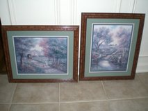 2 Framed Country Town Prints in Sandwich, Illinois