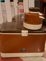 1970s Coleman Cooler + Thermos in Joliet, Illinois
